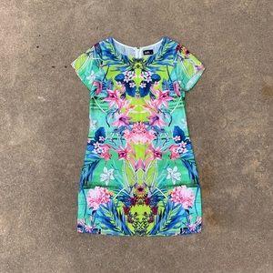 nwt dotti tropical print short sleeve dress